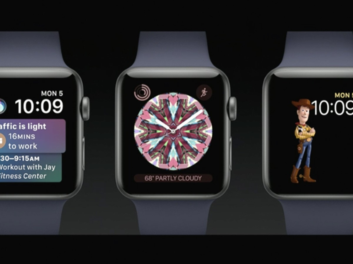 Apple introduced new watch faces in watchOS 4.