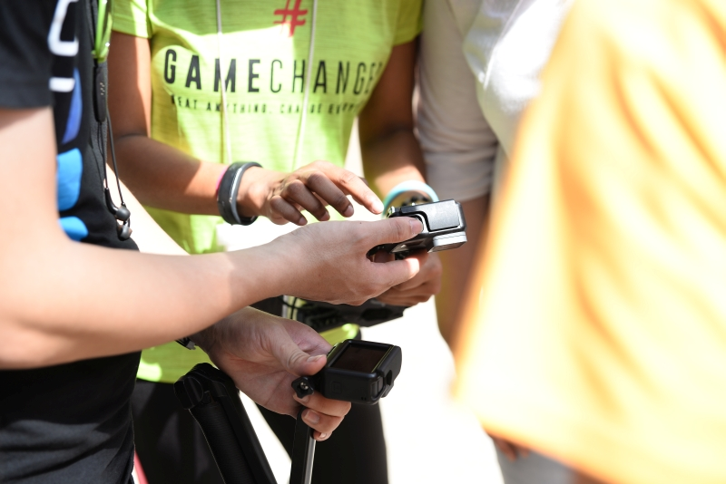 FunSportz representatives were on hand to demonstrate features from the GoPro HERO cameras to workshop participants as they went about their activities.