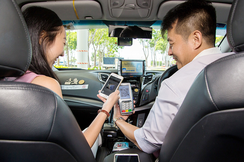 Pay for your taxi rides using QR codes and the DBS PayLah