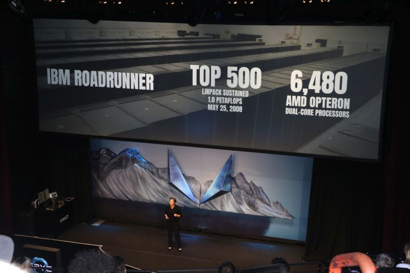 Back in 2008, AMD and IBM had created the Roadrunner, a one petaflop supercomputer that was made up with 6,480 dual-core Opteron CPUs.