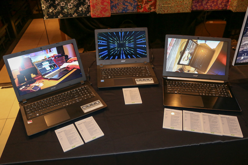 From L-R: The 15.6-inch Acer Aspire 3, the 14-inch Acer Aspire 3, and the 15.6-inch Acer Aspire 5.