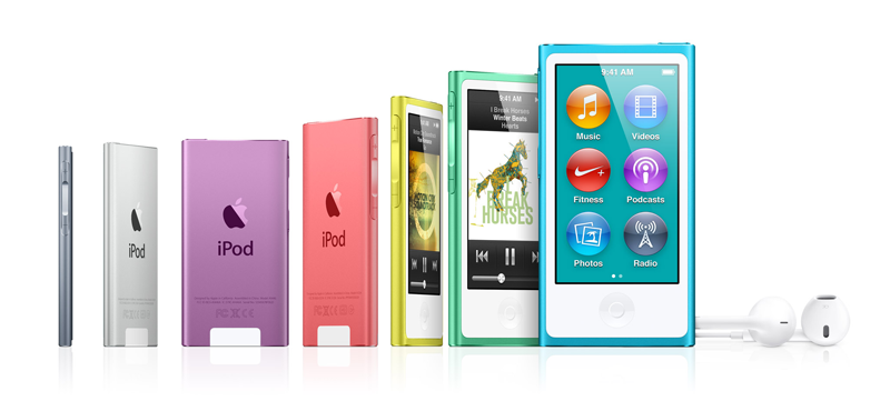 The seventh-generation iPod nano.