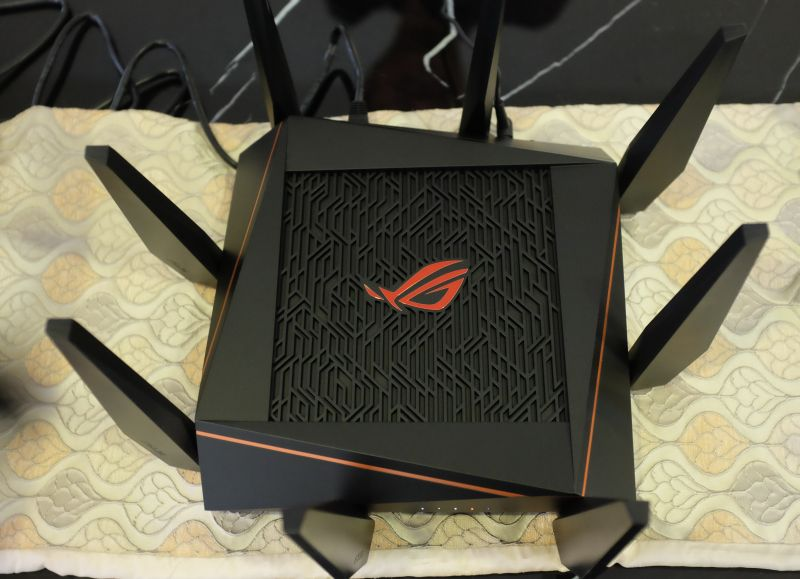 The ASUS GT-AC5300 gaming router.