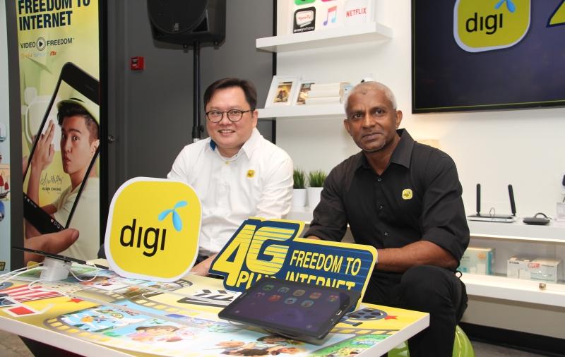 From L-R: Loh Keh Jiat, Chief Marketing Officer, Digi; and Kesavan Sivabalan, Chief Technology Officer, Digi at the media event.