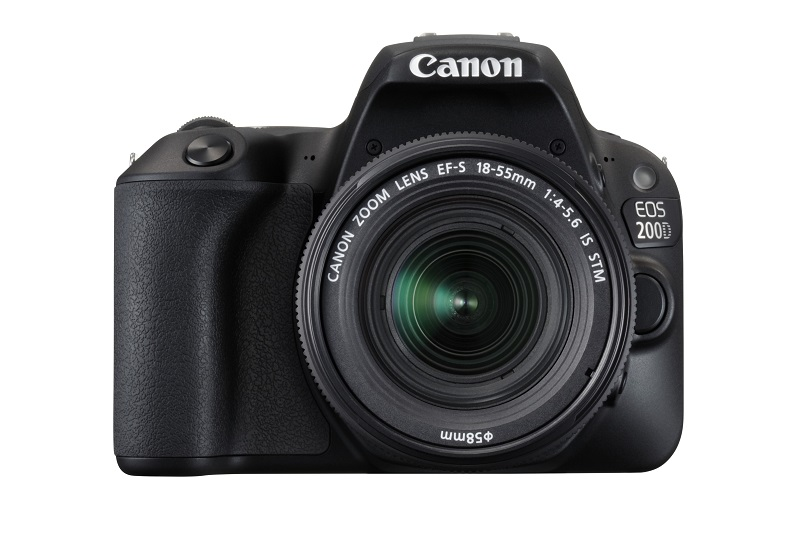 The EOS 200D sports an ergonomic design that manages to fit in powerful components and features. <br>Image source: Canon.
