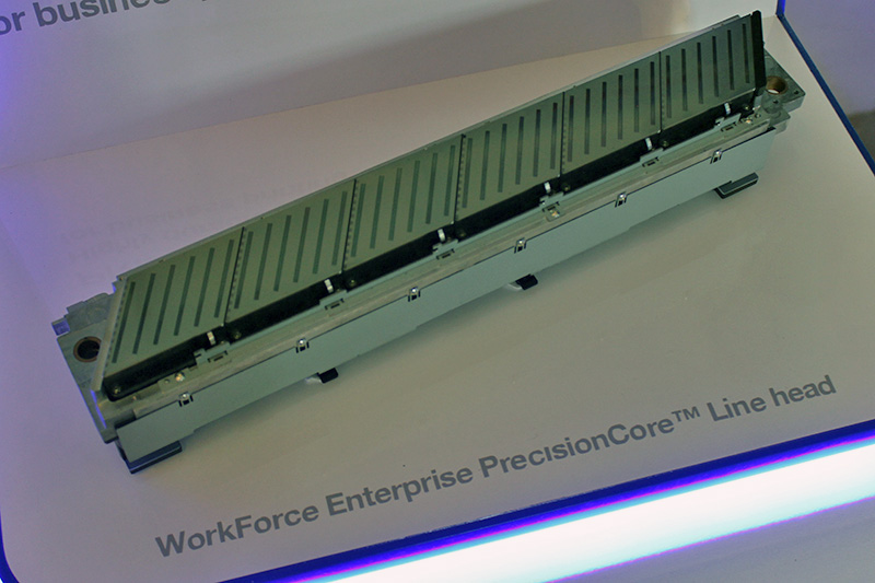 The fixed PrecisionCore Line head used by the WorkForce Enterprise WF-C20590.