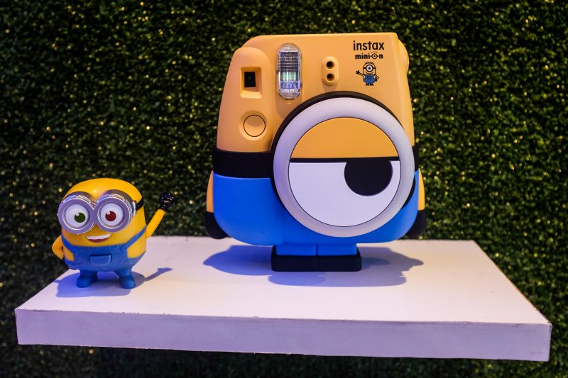 FUJIFILM's new instax Minion 8 camera, coming to stores next month.