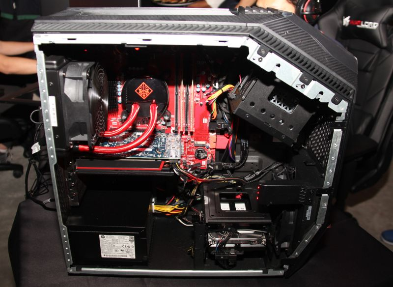 Here's a glimpse at the internals of the OMEN Desktop.