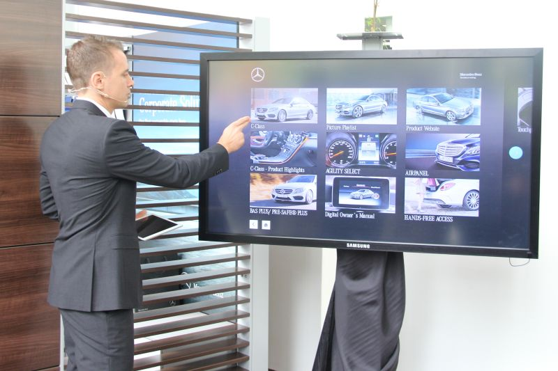 ...or with the interactive digital signage display.