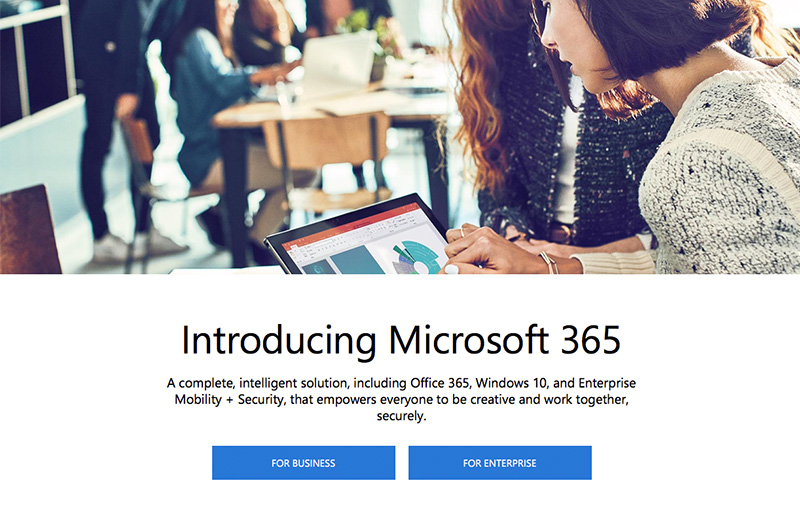 Microsoft 365 is a Windows 10 and Office 365 subscription bundle for