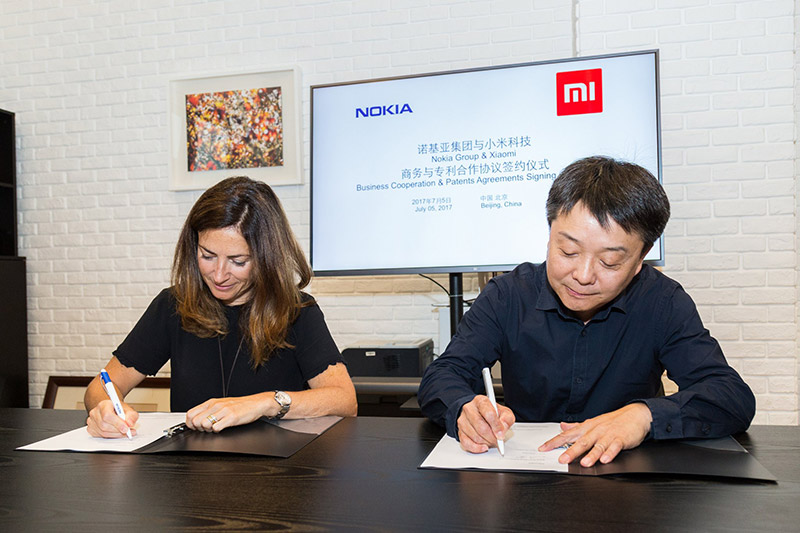 Nokia Group and China's Xiaomi ink a patent and business cooperation agreement. (Image source: Wang Xiang, senior VP at Xiaomi, on Twitter.)