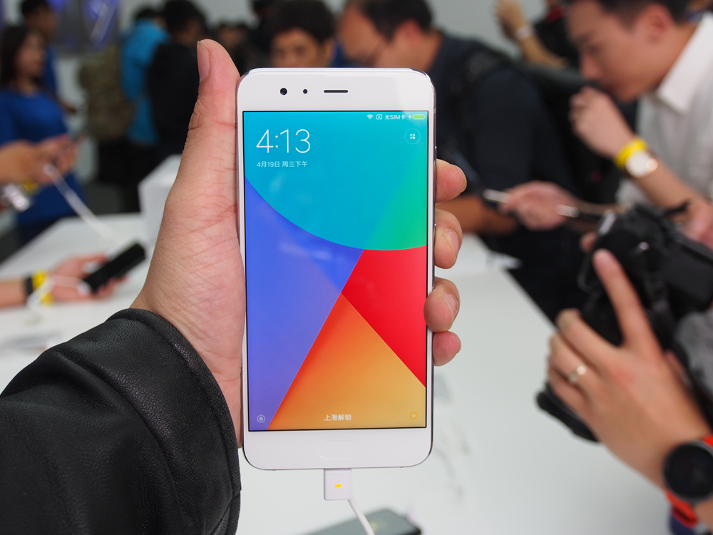 Xiaomi Mi 6 at its launch event.