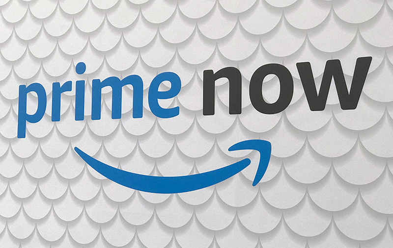 Is Amazon Prime Now the cause of this change from shopping on Amazon's US network?