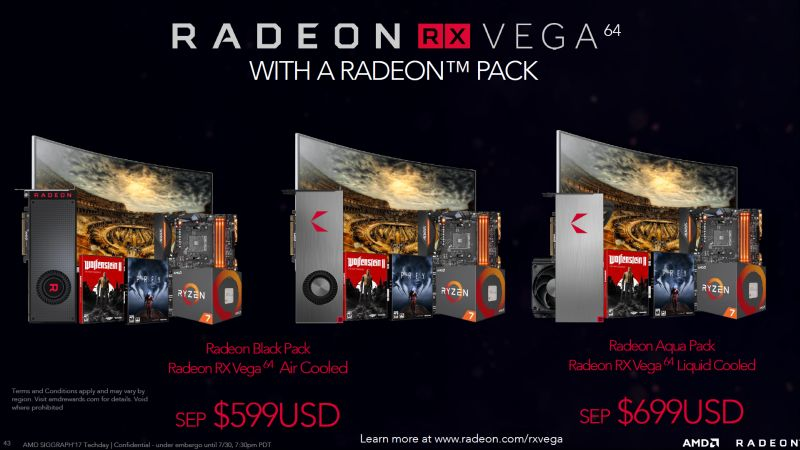 AMD will be bundling its new cards with its specially crafted Radeon Packs. Alternatively, you can still choose to purchase the cards separately.