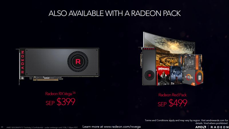 AMD announced the Radeon RX Vega 56.