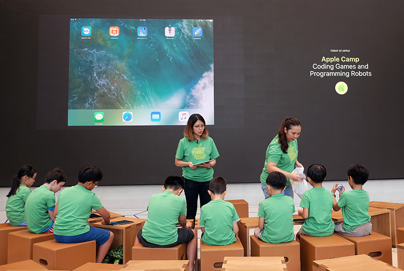 Apple Camp is a free 3-day course for children that will teach them about coding, programming, composing music, and making movies.