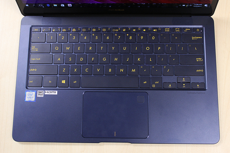 The keys have a good amount of travel and have a tactile feel. The trackpad is also one of the best I have used on a Windows notebook.