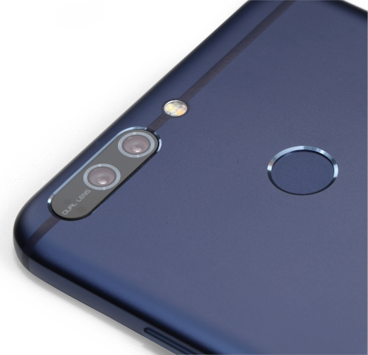 The dual camera lenses are positioned very nicely here.