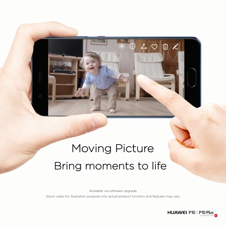 Firmware update adds dynamic photo feature to Huawei P10 and