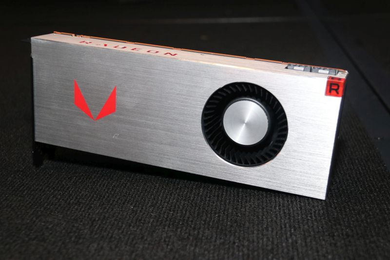 Behold, the Radeon RX Vega 64, AMD's first enthusiast-level graphics cards in years!