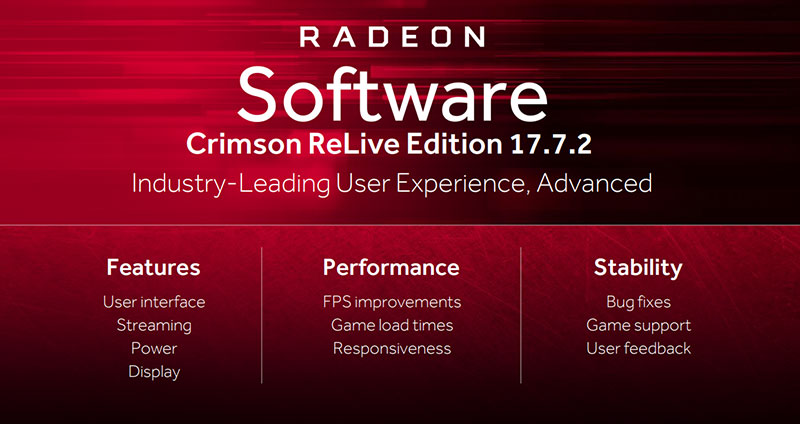 Radeon Software Crimson ReLive Edition 17.7.2 comes with a bunch of optimizations and new features. (Image Source: AMD)