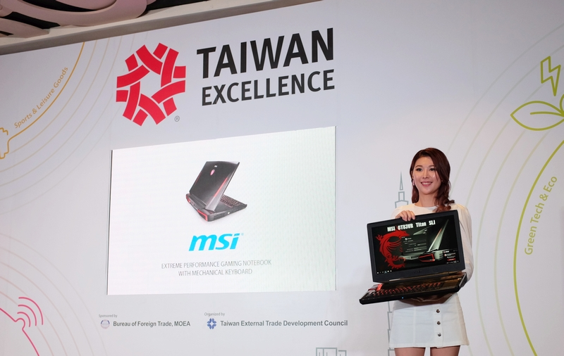 MSI's GT83VR Titan SLI gaming notebook also made an appearance at the press conference.