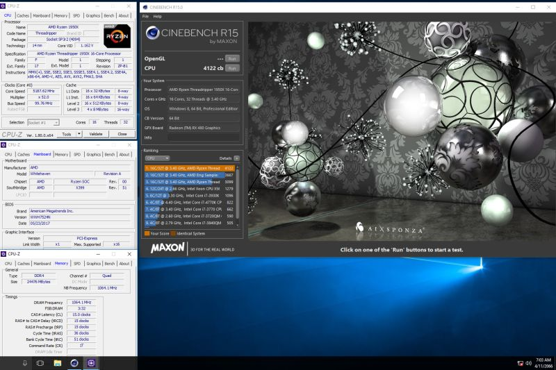 During an extreme overclocking session, Indonesian extreme overclocker Alva Jonathan of JagatReview broke the world record by overclocking the Ryzen 1950X to a boost clockspeed of 5.2GHz and achieving a Cinebench R15 CPU score of 4,122 points.