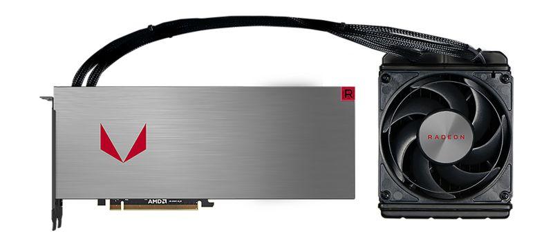 The liquid-cooled version of the Radeon RX Vega 64.