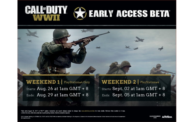 PS4 owners to get Early Access Beta to Call of Duty: World War II