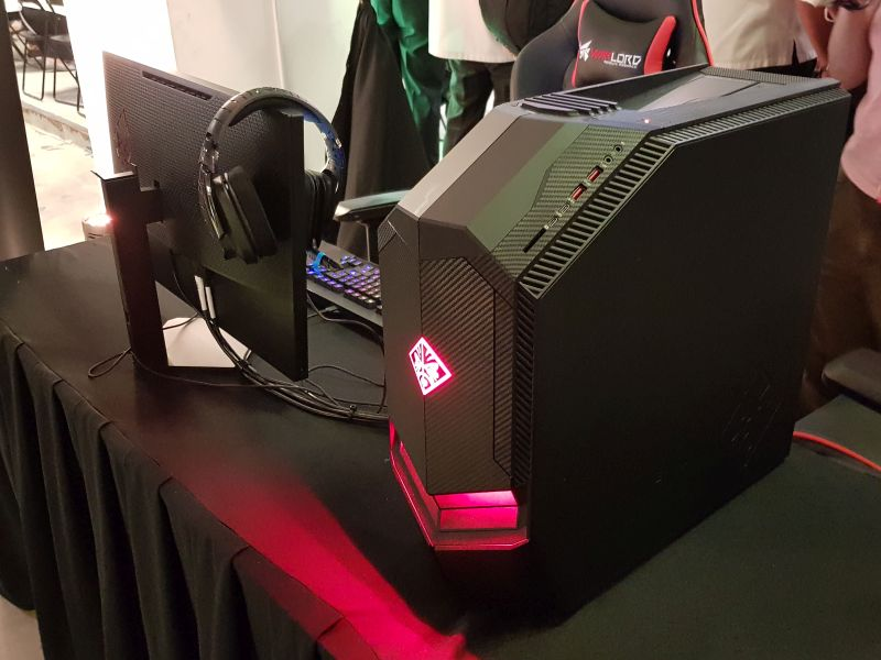 The HP Omen desktop. All of the PCs and accessories used at the Academy of eSports Iskandar Puteri are fully sponsored by both HP and Logitech.
