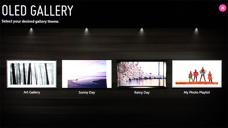 If you chose to, the OLED TVs can double as a giant photo frame.