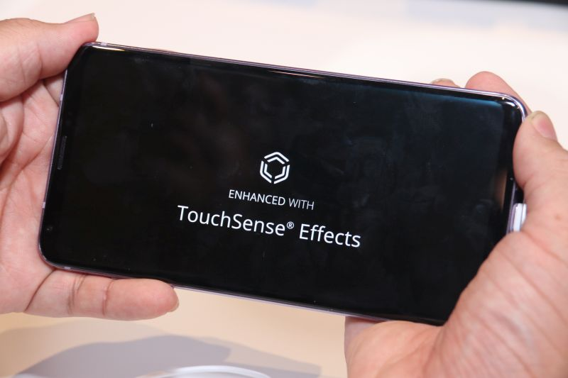 One of the many new features on the V30: TouchSense Effects.