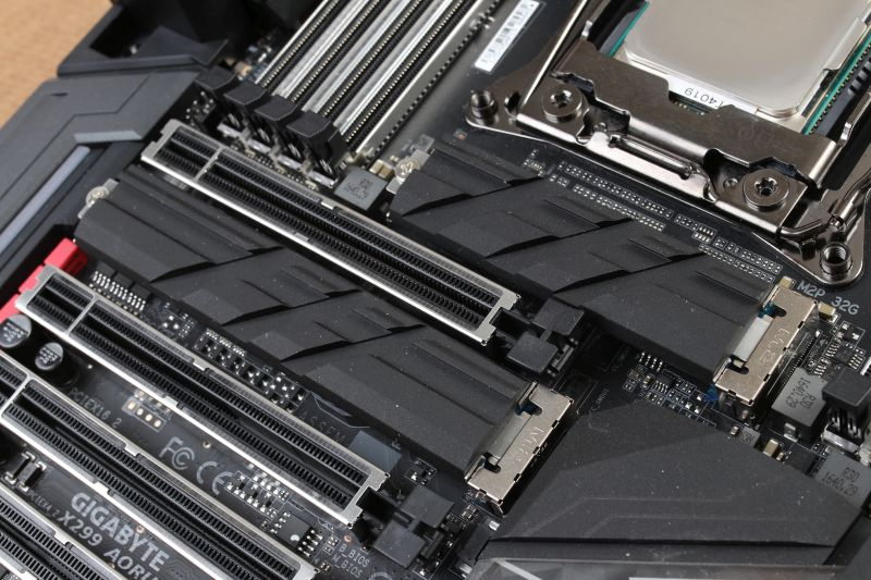 Not one, not two, but three M.2 PCIe NVMe sockets are installed on this motherboard!