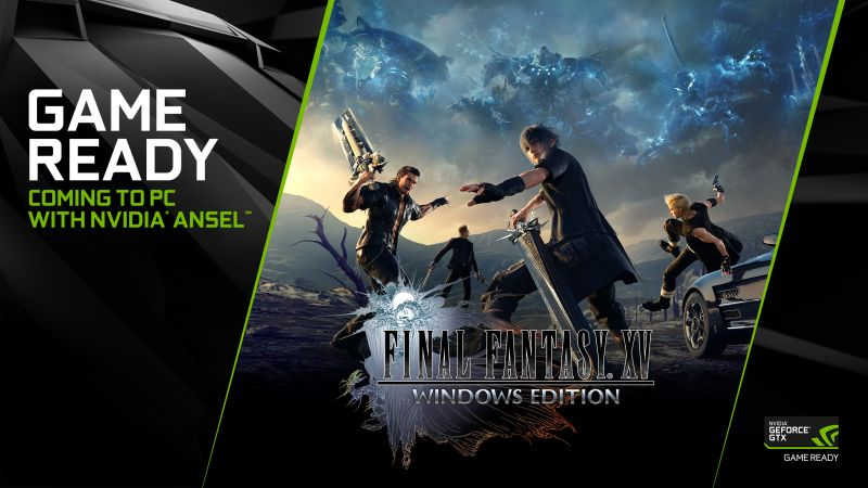 Oh yes, Final Fantasy XV is finally heading to the PC.<br> Image source: NVIDIA.