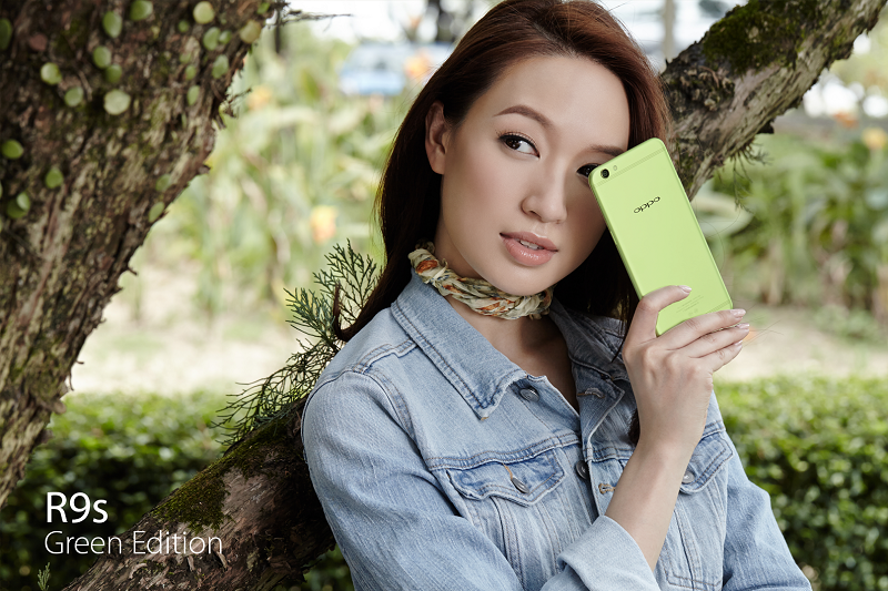OPPO's new R9s Green Edition is now available for pre-order at a price of RM1,798. <br>Image source: OPPO.