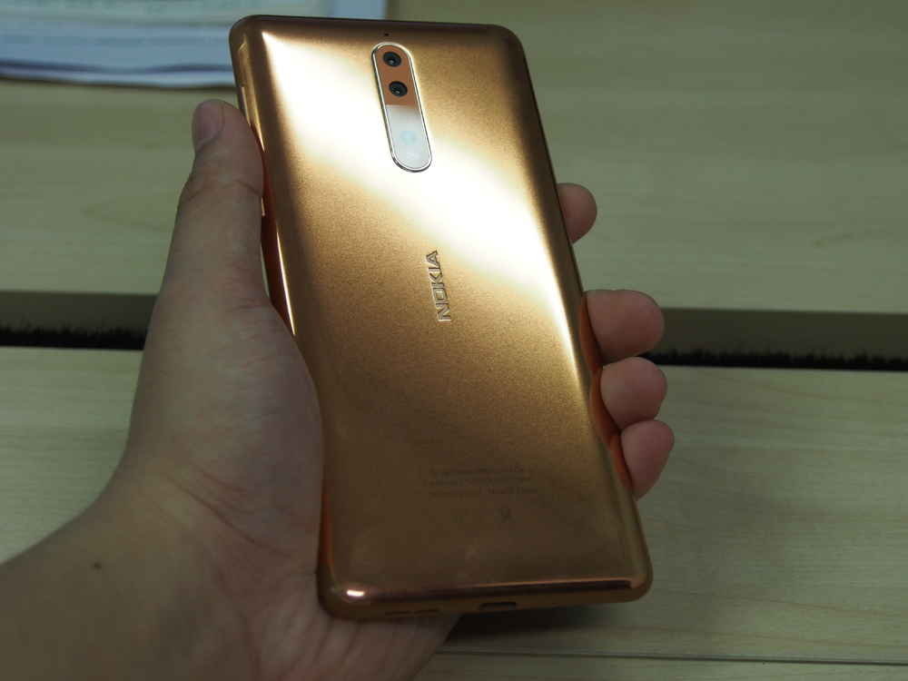 Polished Copper. The shinier variants take longer to manufacture than the matte finish counterparts - actual quote (not verbatim) from HMD Global.