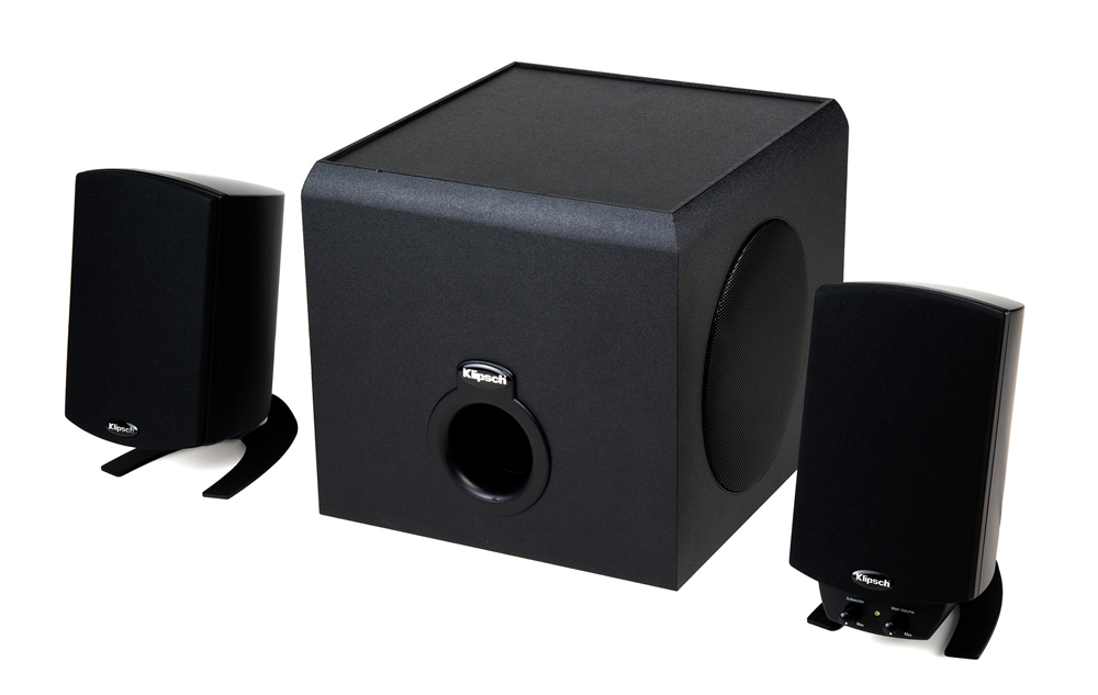klipsch wireless speakers. klipsch launched the promedia 2.1bt in singapore last week. this is a wireless speaker setup for desktops and laptops, designed with bookshelf form speakers h