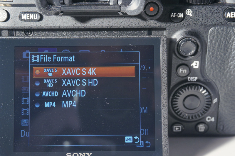 4K capture is supported in XAVC S format.