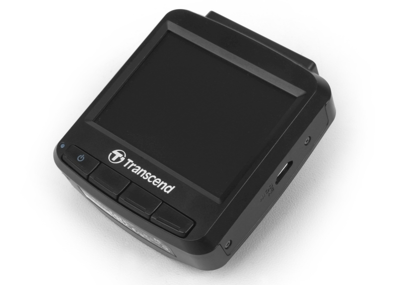 The functions of the other three buttons are evident once the DrivePro 130 is powered on.
