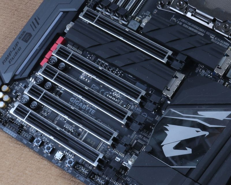 There's an abundance of PCIe 3.0 slots on this motherboard.