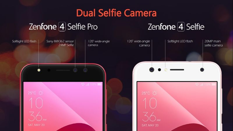 The dual camera setup has been brought to the front. <br> Image source: ASUS.