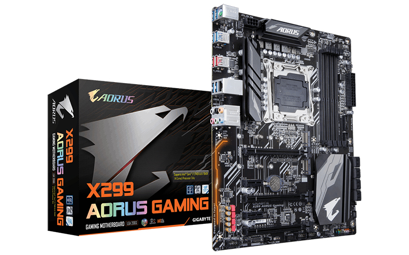 The Gigabyte X299 Aorus Gaming is the first motherboard