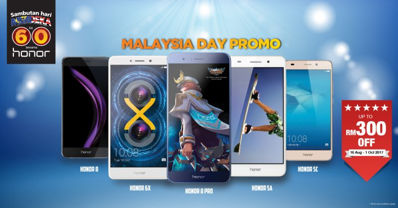 honor Malaysia is holding a special promotion this Merdeka to attract customers eager for generous discounts over selected smartphone models. <br>Image source: honor Malaysia.