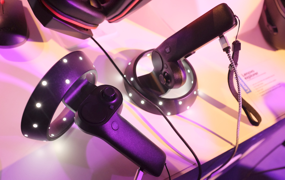 A closer look at the motion controllers.