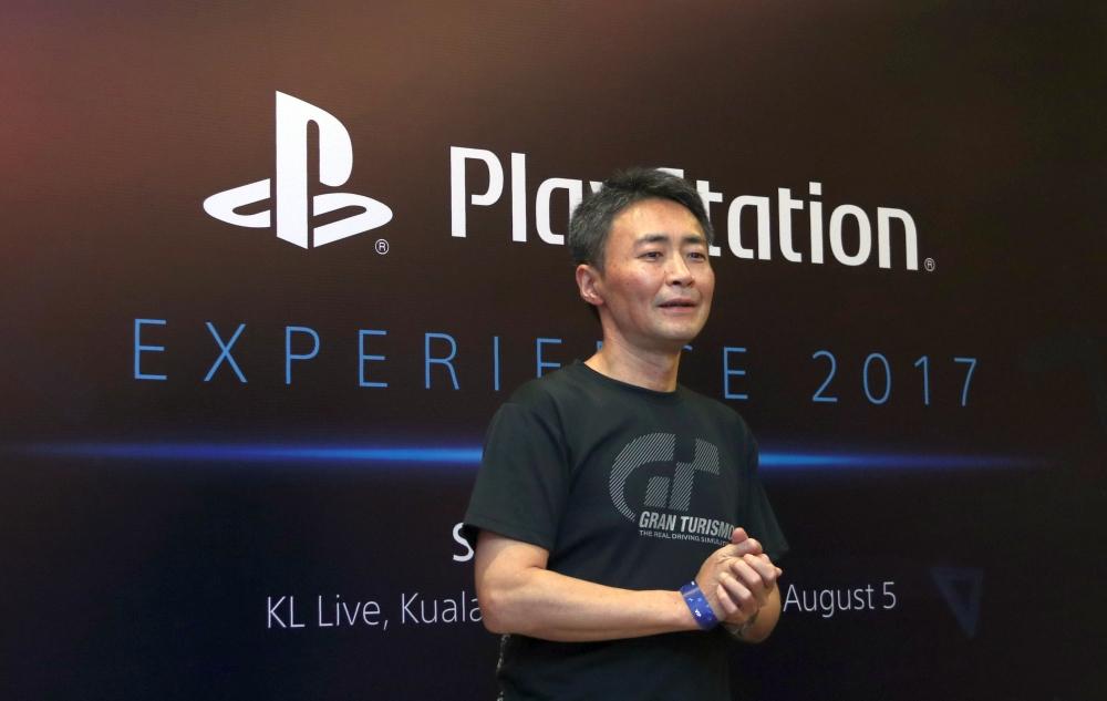 Kazunori Yamauchi, founder of Polyphony Digital and creator of the Gran Turismo series.