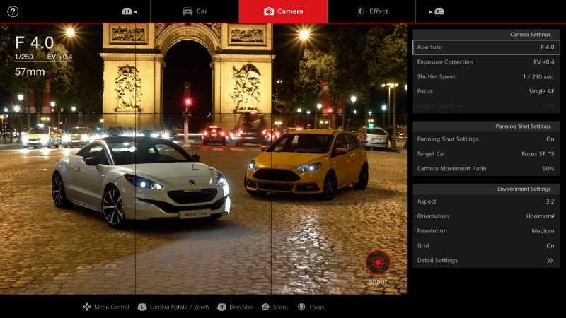 Scapes is a powerful photo mode that provides more than 1,000 HDR photo spots from around the world. Each photo contains the lighting and spatial information that will be applied to the cars placed in the image. The resulting photos can then be shared via GT Sport's social feature. <br>Image source: Sony Interactive Entertainment.