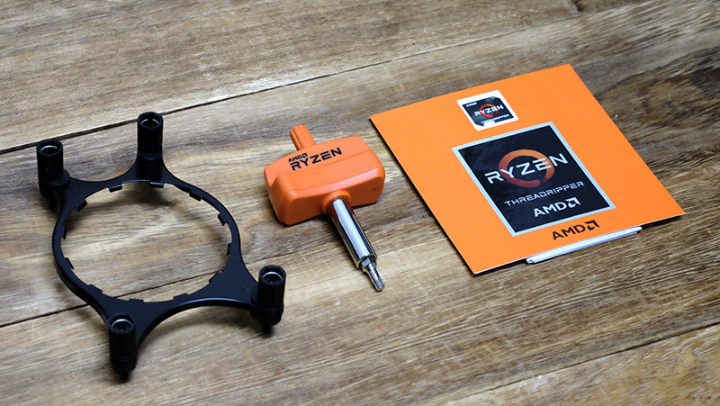 Threadripper ships with a full complement of installation tools.