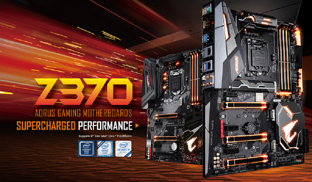 The Z370 AORUS Motherboard.