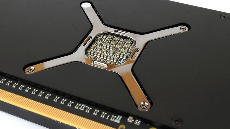AMD had purposely left the back of the GPU exposed.