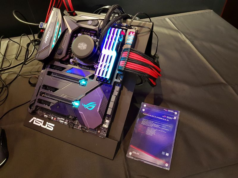 Seen here is the ASUS ROG Maximus X Formula, fully kitted out.